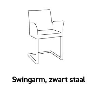 Nina swingarm, zwart staal